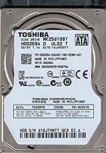 "Toshiba MK2561GSY FW:MC001D 250gb  2.5/"" Sata PCB HDD2E84 D UL02 T"