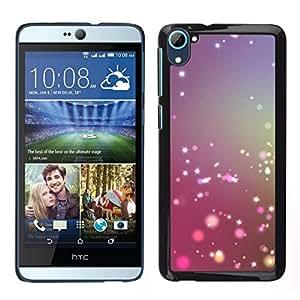 // PHONE CASE GIFT // Duro Estuche protector PC Cáscara Plástico Carcasa Funda Hard Protective Case for HTC Desire D826 / Shiny Purple Pink Snow /