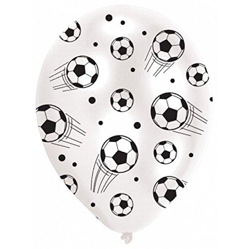 les colis noirs lcn Sachet de 6 Ballon Football - Ballon Foot Déco Fête Anniversaire - 387
