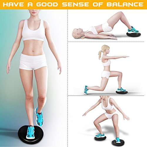 Yes4all Exercise Balance Disc Stability Disc With Hand Pump