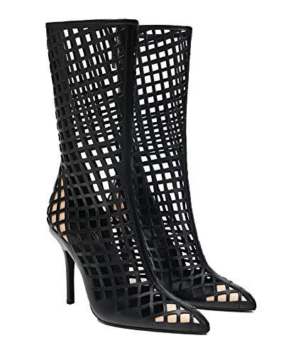 301 Alto Donna Zara Tacco 5005 Fustellato Pelle Stivali Da q6xUw8PW5