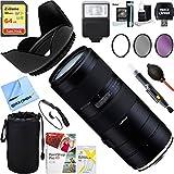 Tamron 70-210mm F/4 Di VC USD Telephoto Zoom Lens for Full-Frame Nikon DSLR+ 64GB Ultimate Filter & Flash Photography Bundle