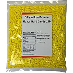 Silly Yellow Banana Heads Hard Candy 1 lb