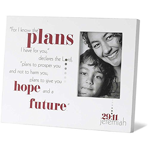 Know the Plans Jeremiah 29:11 White 8 x 10 Wood Poem and Photo Frame