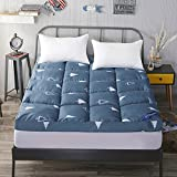 HYXL Tatami floor mat Thickened Down cotton Mattress Bed mattress Folding Bed pad Tatami double pad-E 90x200cm(35x79inch)