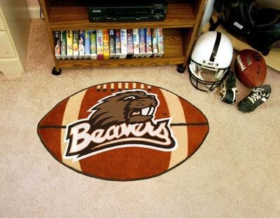 Fanmats Oregon State Beavers Football-Shaped Mats (State Football Shaped Rug)