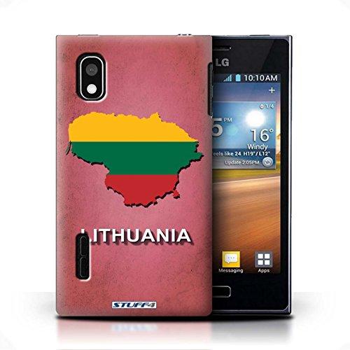 Coque de Stuff4 / Coque pour LG Optimus L5/E610 / Lituanie/Lituanien Design / Drapeau Pays Collection