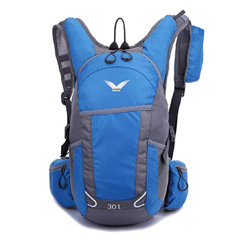 ZC&J Mochila al aire libre multi-funcional, anti-plan impermeable mochila de cinturón ajustable, al aire libre camping camping senderismo hombres y mujeres general mochila,G,30L B