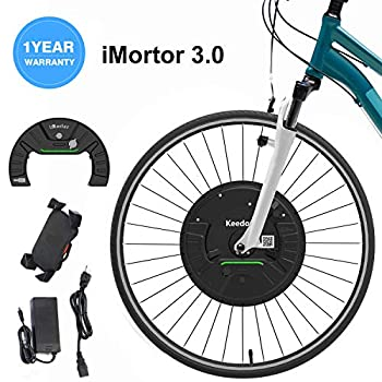 Image of iMortor 3.0 Wireless Electric Bike Front Wheel Conversion Kits 36V 350W Motor & Removable Lithium Battery for Android &iOS,All Bluetooth Versions, 26'x1.95'(MTB/CTB/Cruiser) 700x23c(Road/Leisure Bike)