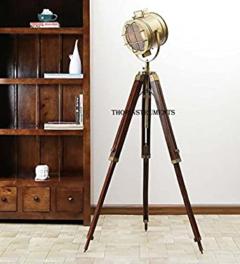 retro hollywood searchlight floor lamp tripod lighting spotlight home decor lamp - Spotlight Floor Lamp