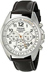 Pulsar Men's PT3419X Analog Display Japanese Quartz Brown Watch