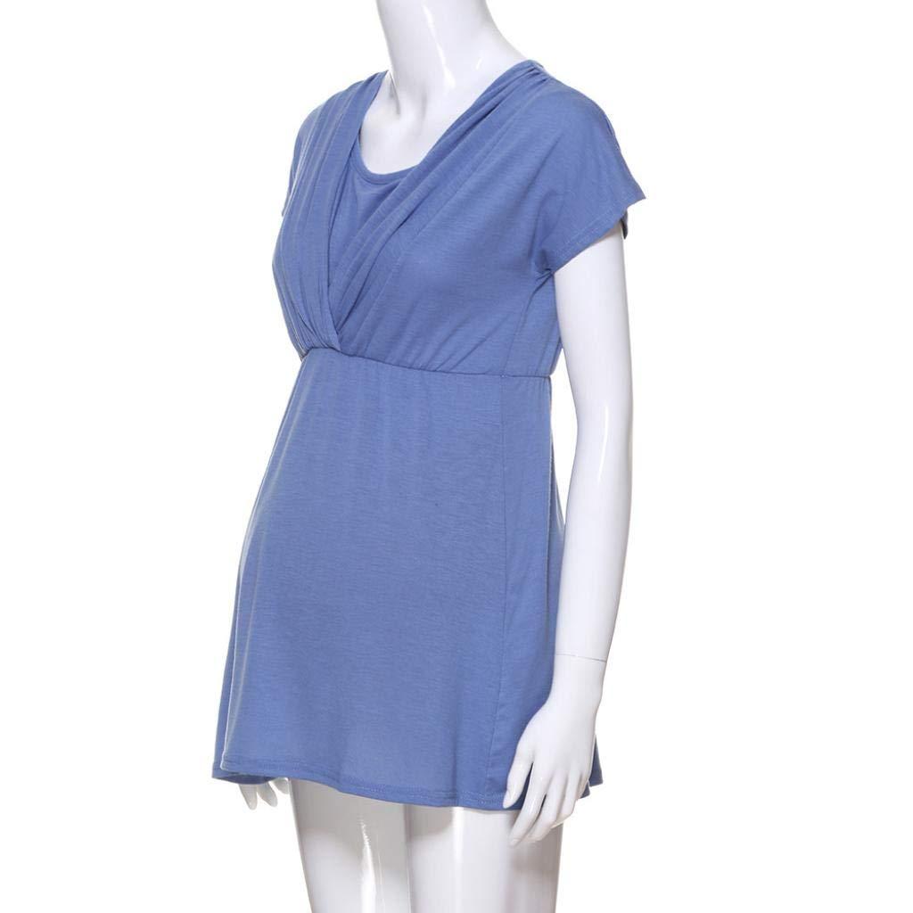 QinMM Camiseta de Lactancia Maternidad de Noche Camisa Mujer Blusa Embarazadas Ropa de Dormir Premamá Primavera otoño Tops Chalecos Verano: Amazon.es: Ropa ...