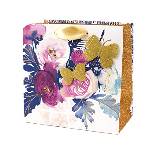Hallmark Signature Medium Gift Bag (Flowers and Butterfly)