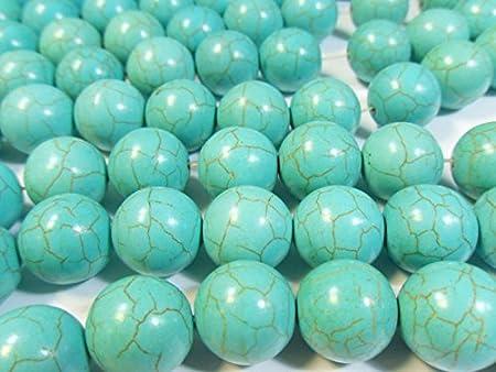 Bolas de Piedra Turquesa Perlas Piedras Preciosas 18mm para Joyas Cadena g1114