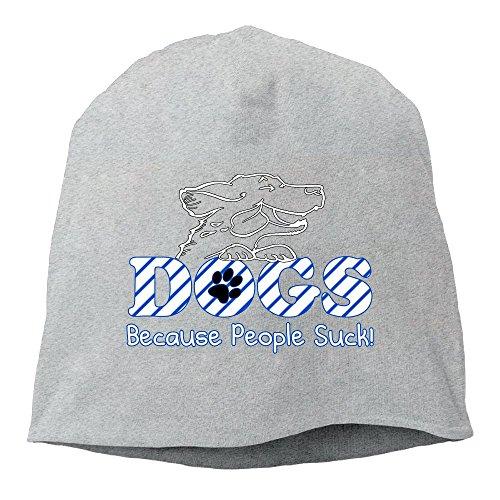 (UIMEcap Dogs Because People Suck Fashion Hipster Beanie Cap&Hip-hop Cap&Set Head Cap&Skull Cap&Toboggan Cap for Man's Women's)