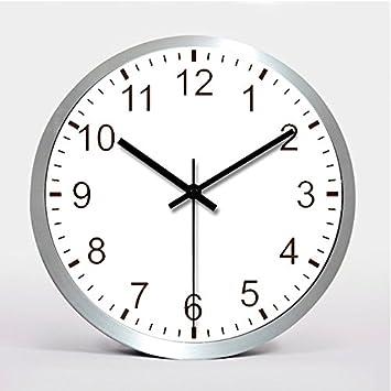 Reloj de pared de acero inoxidable en silencio un gran ...