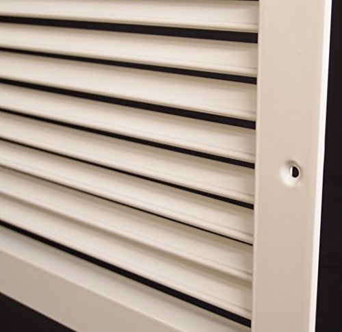 14''w X 10''h Aluminum Adjustable Return/Suuply HVAC Air Grille - Full Control Horizontal Airflow Direction - Vent Duct Cover - Single Deflection [Outer Dimensions: 15.85''w X 11.85''h] by HVAC Premium (Image #6)