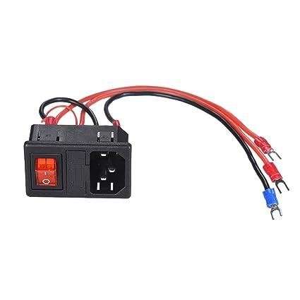 Docooler Supply Switch 220V / 110V 15A Conector macho de ...
