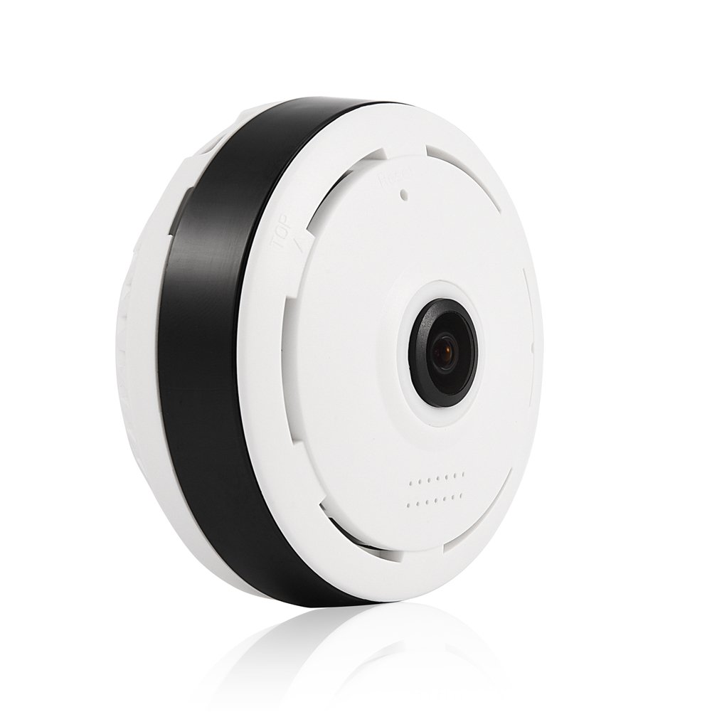 ASHATA Security Camera, 960P HD 360° Panoramic WiFi Wireless Home Security Fisheye IP Camera Night Vision