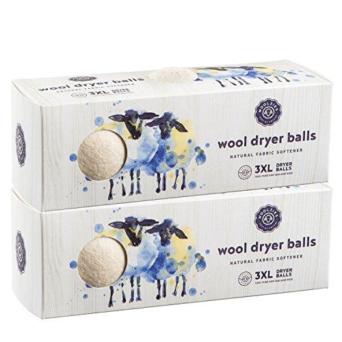 Wool Pure Baby Natura (Woolzies- Wool Dryer Balls, Natural Fabric Softener, 2 Pack)