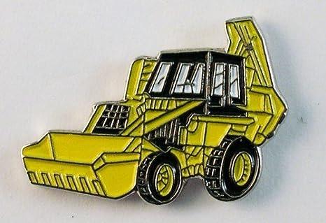 Pin de Metal esmaltado, Insignia Broche Tractor Excavadora JCB, Color Amarillo: Amazon.es: Hogar
