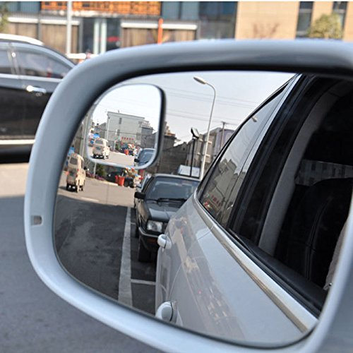 SCASTOE 360 ° Frameless Wide Angle Car Rearview Mirror Adjustabe Fan Shaped Blind Spot Mirror