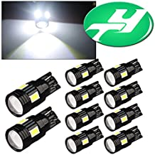 YINTATECH 10 X T10 6 SMD 3W SAMSUNG 5630 Projector Lens Dome Map White LED Light W5W 194 168 2825