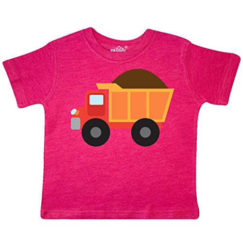 Inktastic - Dump Truck Construction Toddler T-Shirt 2T Retro Heather Pink (Tees Toddler Retro)