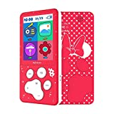 MP3 Player Kids 8 GB with Loudspeaker MP4 Player Lock Key FM Radio Girls MP3 Player for Children,E book Games Calender
