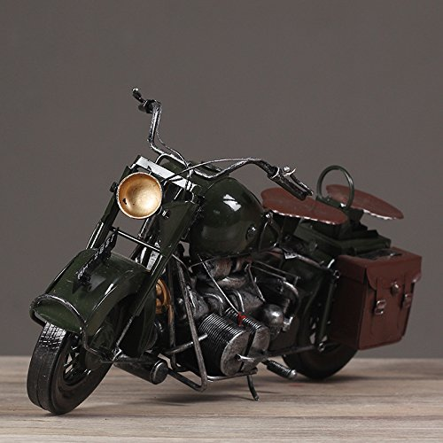 FUMING New Lovely Metal Model American WLA Motorcycles Iron Motorbike Models Toy Boys Gifts Kids Toys Wheel can be Moved