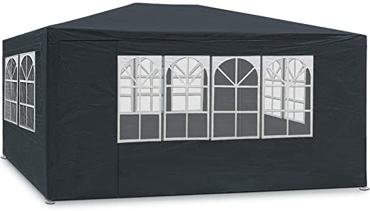 MaxxGarden - Carpa de jardín de 3 x 4 m, protección UV50+, hidrófugo, 12 m², 4 paredes laterales enrollables, 4 ventanas, color verde: Amazon.es: Jardín