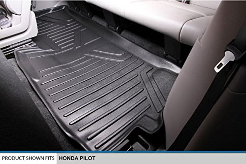 SMARTLINER Floor Mats 3rd Row Liner Black for 2009-2015 Honda Pilot