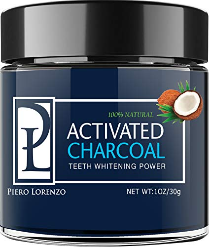 Votala Natural Activated Coconut Charcoal Teeth Whitening Powder, Teeth Whitening Charcoal, New 2019 Formula, 30g ()