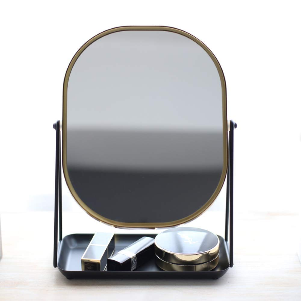 Mirror ZHILIAN& Makeup HD Double-Sided Simple Modern Aluminum Home Multi-Function Desktop Vanity