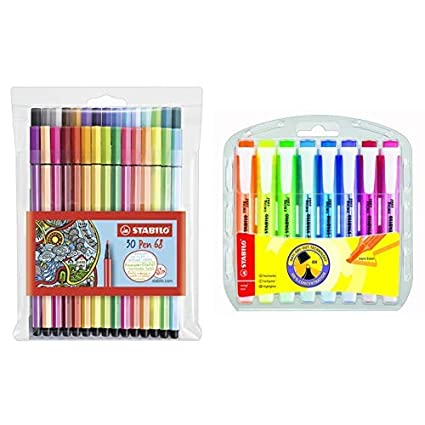 STABILO Pen 68 Pastel 8er Premium Filzstifte verschiedene Pastel Farben Set