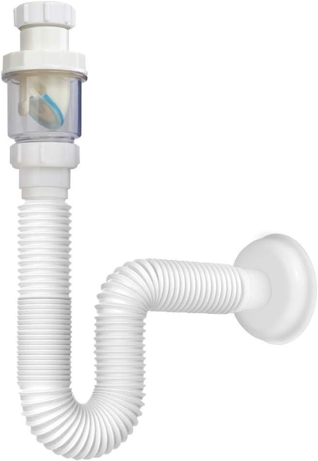 Vataler 1 1 4 Inch Expandable Flexible 17 42 Inch Universal Kitchen Sink Sewer Drain Pipe Tube S Trap Bathroom Vanity Sink Drain Plumbing P Trap Tubing Amazon Com