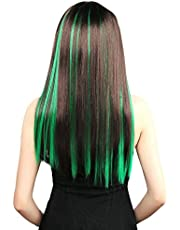 Neitsi 20inch Synthetic Clip on in Hair Colored Highlight Hair Extensions Multiple Colors