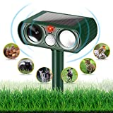 YUCHEL Dog Repellent Ultrasonic, Outdoor Solar Powered and Weatherproof Ultrasonic Pest Repeller