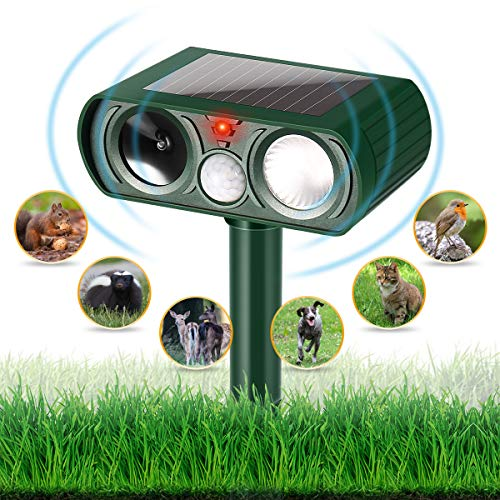 - Dog Chaser, Outdoor Solar Powered and Weatherproof Ultrasonic Animal Chaser With PIR Sensor