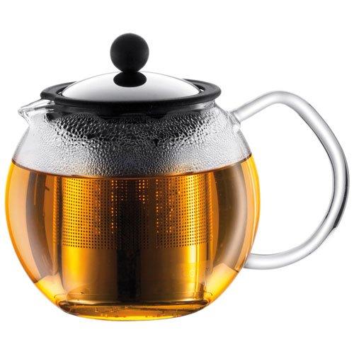 Assam 4 Cup Tea Press (Bodum Assam Glass Tea Press with Stainless Steel Filter, 17-Ounce)