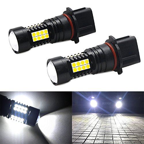 CIIHON H11 H8 H9 LED Fog Light Bulb 1800 Lumens 6000K Xenon White New Upgrade CSP Chips Aviation Aluminum DRL Daytime Fog Lights Lamps Super Bright Replacement Not for Headlight Pack of 2