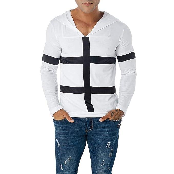 BBestseller-Camisa de hombre Jersey de Patchwork de Manga Larga para Hombres Sudaderas Tops tee