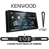 Kenwood DDX775BH 6.95 WVGA DVD Receiver w/Bluetooth and HD Radio and License plate Back up camera And a SOTS Lanyard