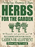 Herbs for the Garden small size steel sign 8