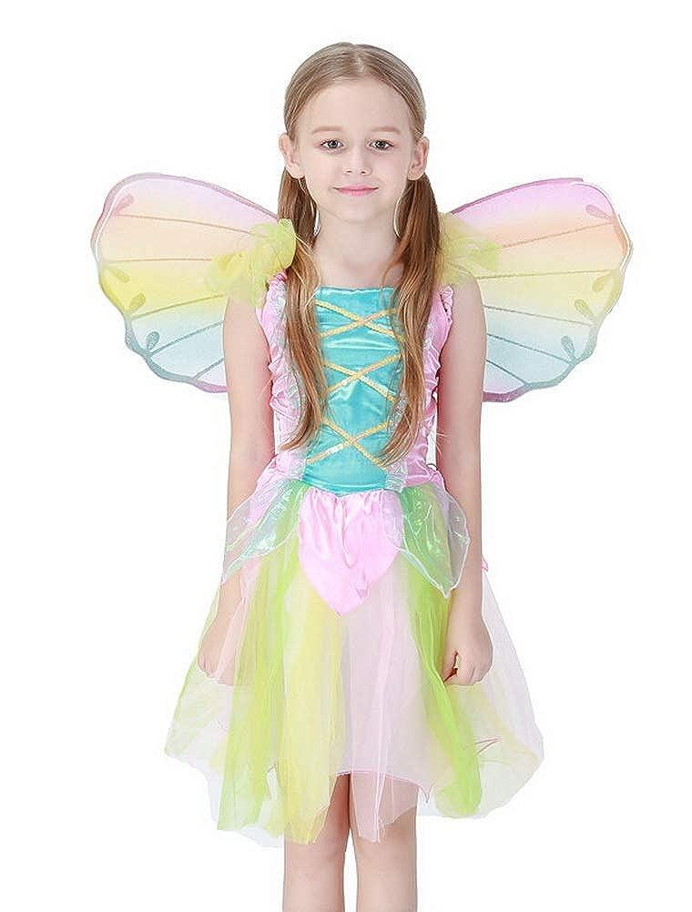 ARAUS Vestido Arco Iris Ángel de Halloween Niña Princesa ...