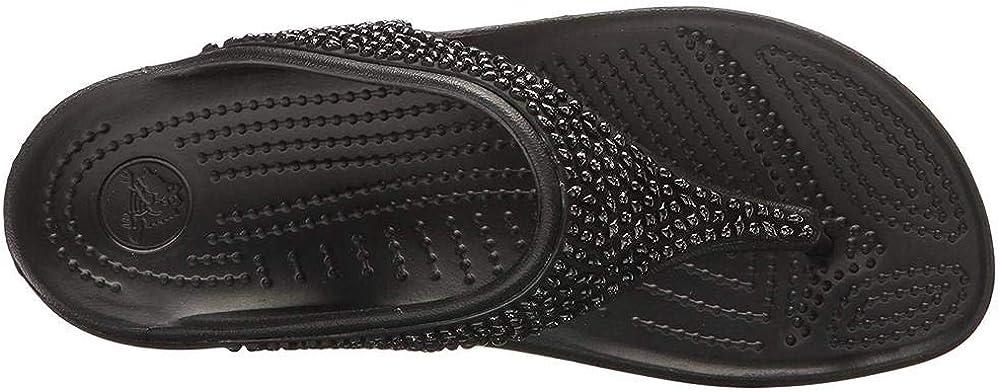 Crocs Womens Sloane Embellished Flip Flop