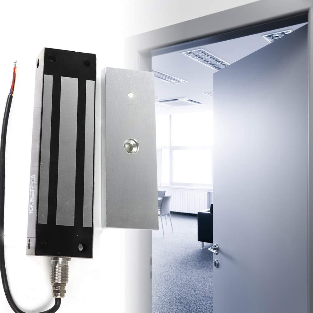 TFCFL 12//24V 500KG//1200LB Waterproof Electromagnetic Gate Lock Outdoor Latch Stainless Steel for Wooden Door Metal Door US Stock