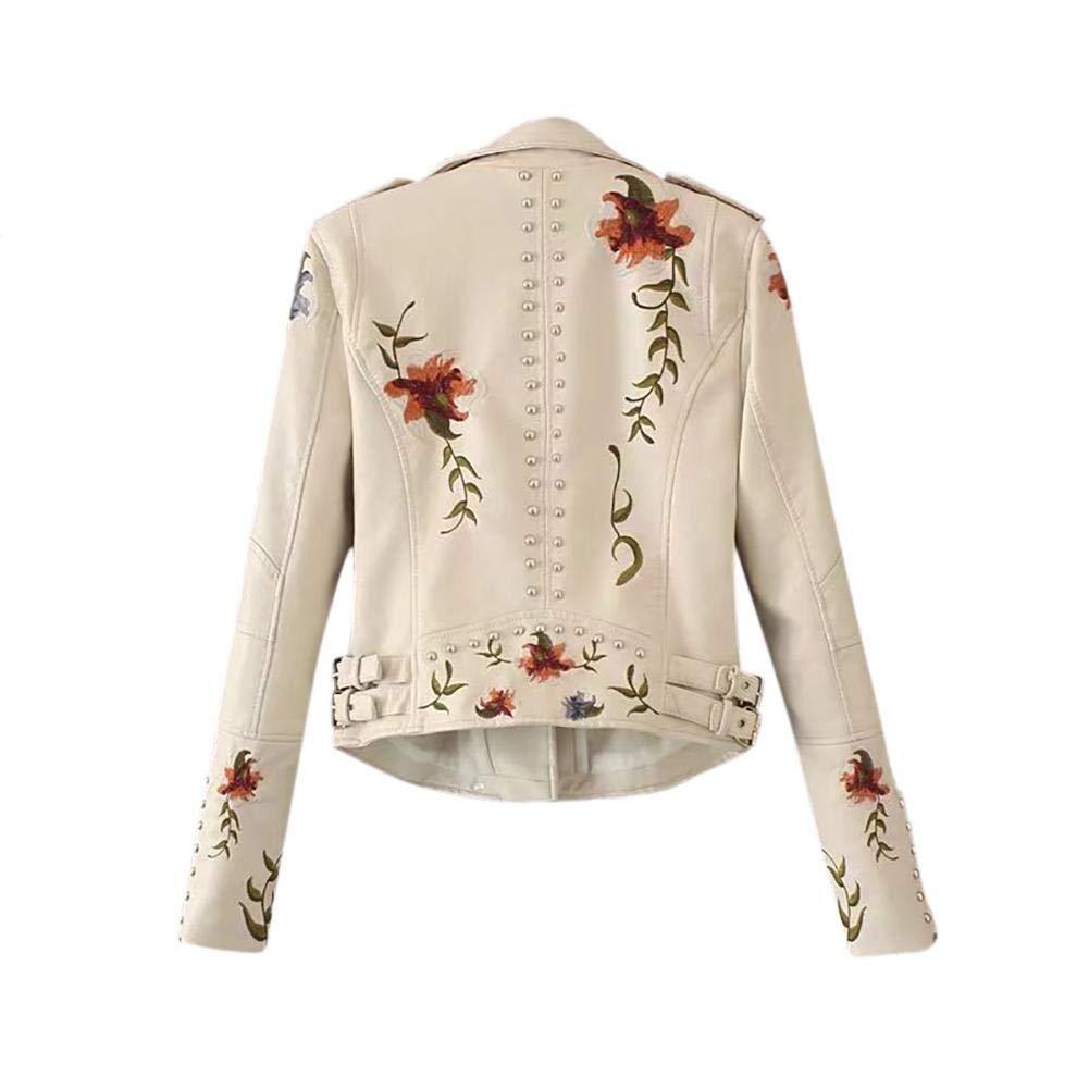 Opfury Giacche in Pelle da Donna alla Moda Giacchino Corto Aderente con Zip e Cerniera Cappotto Snellente in PU