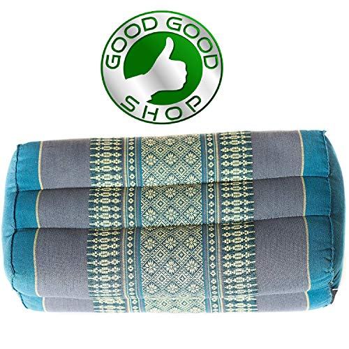 Good Good Shop, Meditation,Yoga Block Pilates Brick Eco-Friendly Organic and Natural, 14x6x4 inches, Kapok, Bolster, Floor Pillow, Small Block (Blue Sky)
