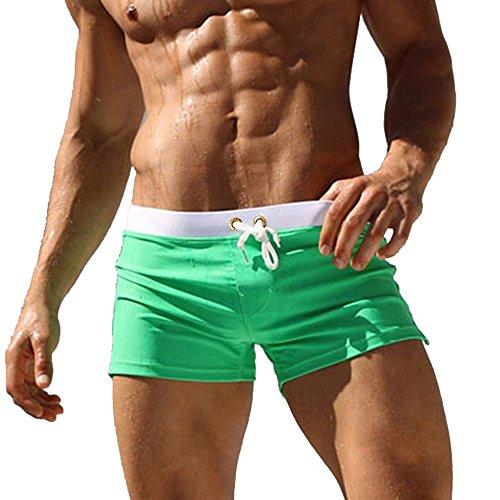 Swim Boxer - Coco BLVD Men's Beach Swimming Trunks Boxer Brief Swimsuit Swim Underwear Boardshorts With Pocket